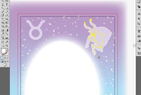 星占いポストカード 星を配置
