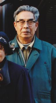 別に用意した、すでに他界した祖父の似顔絵用写真