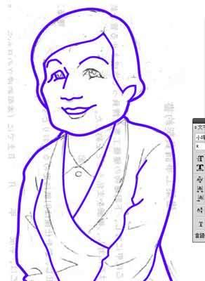 似顔絵の描き方-中の線画