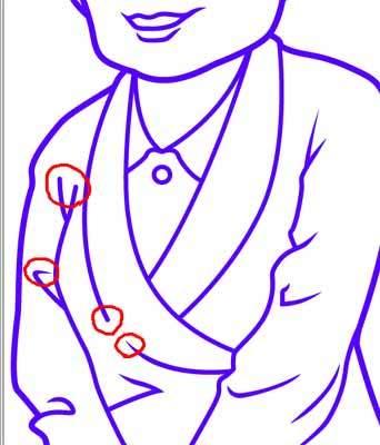 似顔絵の描き方-線を尖らせる