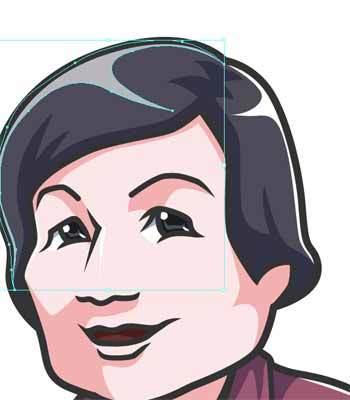 似顔絵の描き方-光の調整中