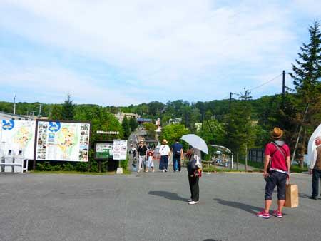 旭山動物園入り口の景色
