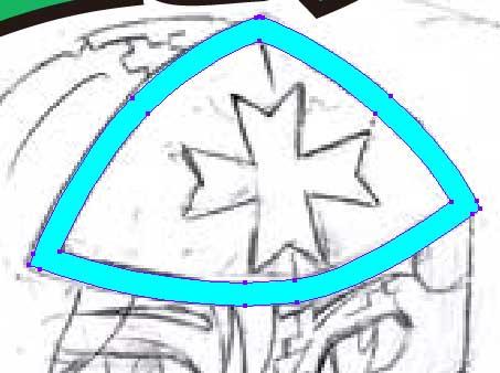 特撮ヒーロー風ビッ●リマン風似顔絵‐線を塗りに変える