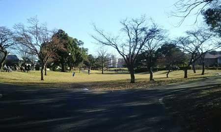 本牧神社前の公園