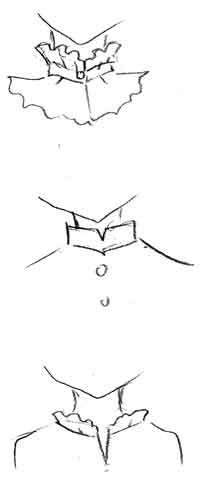 海外の女性の似顔絵アイコン縦襟