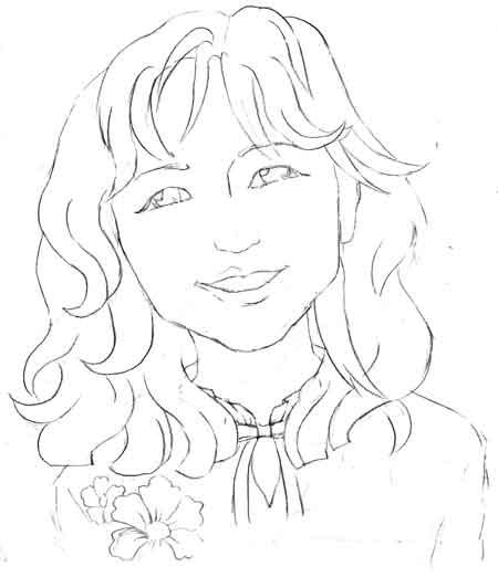 海外の女性の似顔絵アイコン顔パーツ