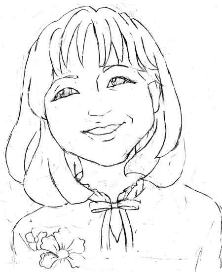 海外の女性の似顔絵アイコンボブ
