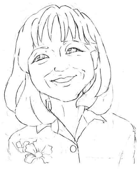 海外の女性の似顔絵アイコン年齢