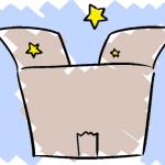 思い出の詰まった段ボール箱イラスト