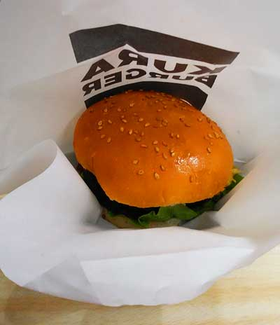 くら寿司fishburgerパッケージを開けたところ
