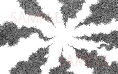 漫画素材:オドロカケアミ薄サンプル01