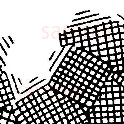 漫画素材:オドロカケアミ薄サンプル02
