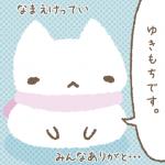 猫キャラクター名決定「ゆきもち」