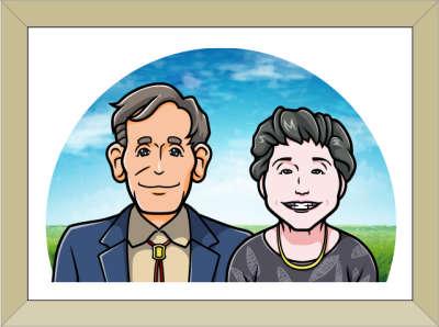 額入り父母の似顔絵02
