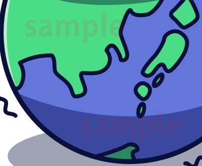 イラスト素材:地球部分