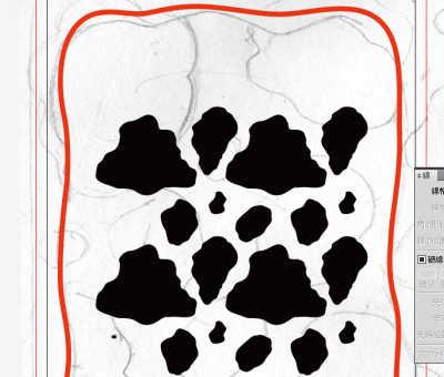 牛柄素材制作風景:模様の数が多すぎたので削除