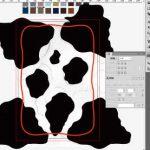 牛柄素材制作風景:形を整える