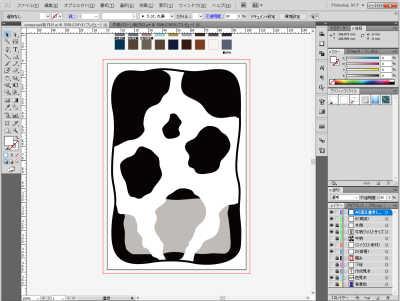 牛柄素材制作風景:コメント欄を透過