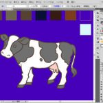 牛のイラスト制作風景01