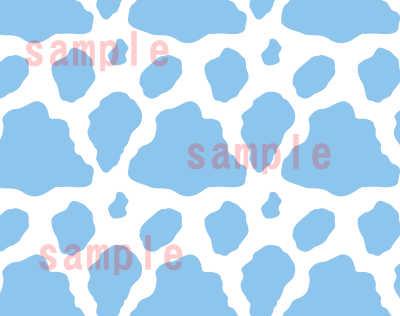 牛柄 ホルスタインの模様パターン ブルー系パターンアップ02