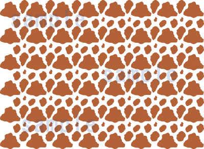 牛柄 ジャージー牛の模様パターン見本01