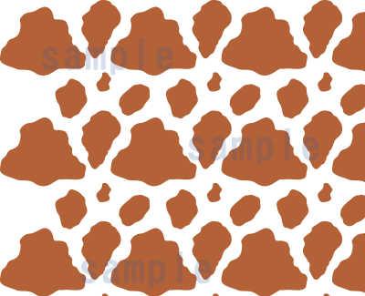 牛柄 ジャージー牛の模様パターンアップ01