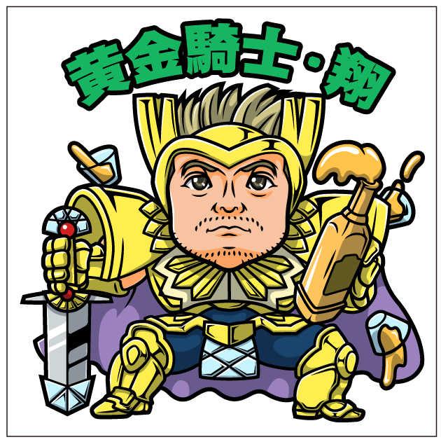 黄金騎士風のビッ●リマン風似顔絵完成前確認の様子