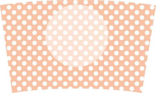 25(水玉白×パステルオレンジ)