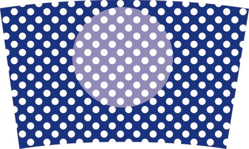 40(水玉白×紺)