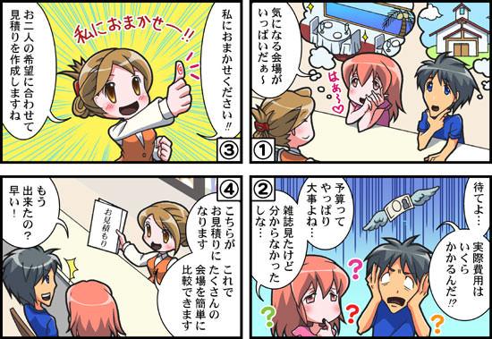 TSSブライダル情報センター様漫画02