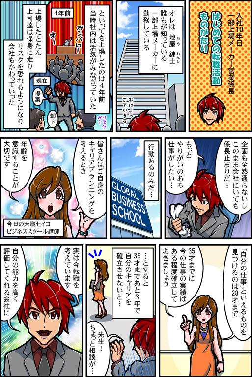 ハイスペックの転職漫画01