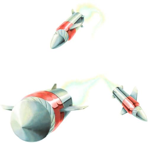 ミサイルのモンスター