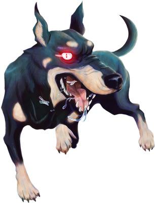 犬のモンスターイラスト01