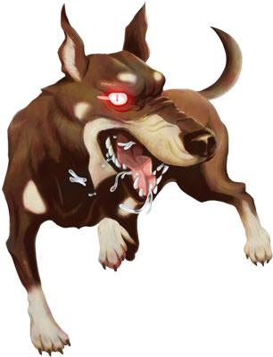 犬のモンスターイラスト02