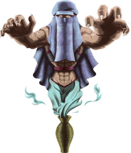 モンスターイラスト壺の魔人02