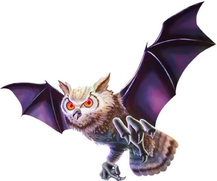 敵フクロウ蝙蝠イラスト01