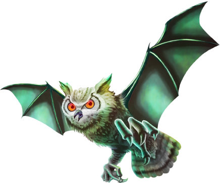 敵フクロウ蝙蝠イラスト02
