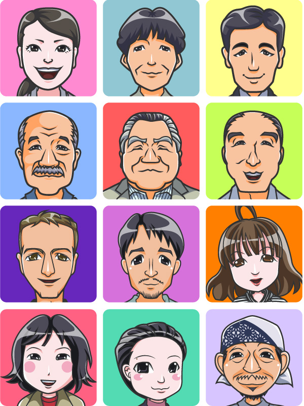 不動産会社日本マウント社の似顔絵