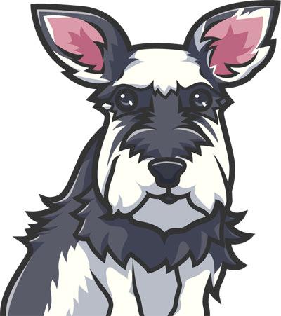 テリア系の犬の似顔絵